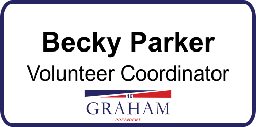 Lindsey Graham Presidential Name Tag