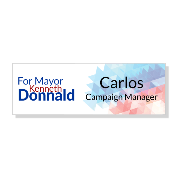Local Election Campaign Name Tag - Pixelated Design