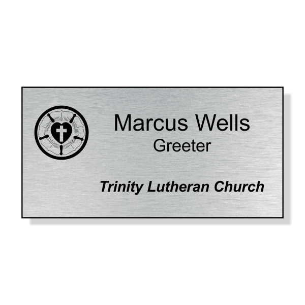 Lutheran Engraved Name Tag - Large Rectangle