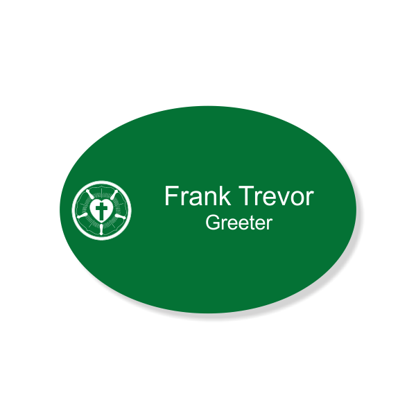 Lutheran Engraved Name Tag - Oval