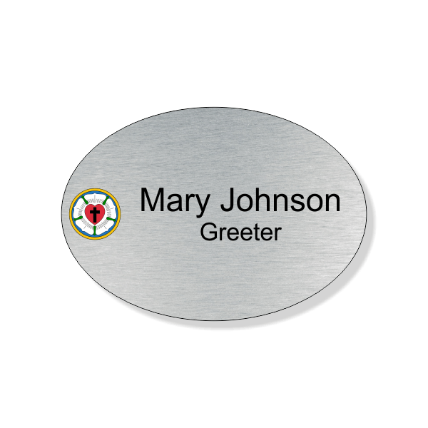 Lutheran Full Color Name Tag - Oval