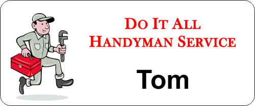 Maintenance Handy Man 3 Line Name Badge