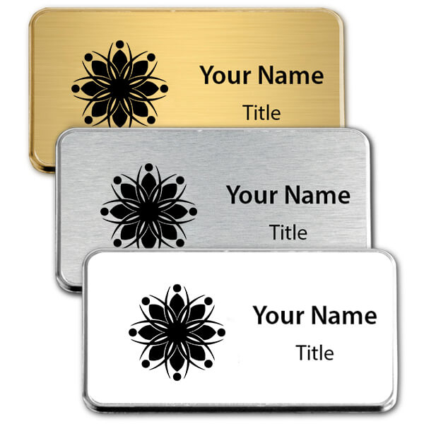 Medium Engraved Executive Badges with Rounded Corners