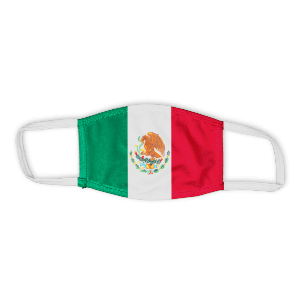 Flag of Mexico Child Size Face Mask