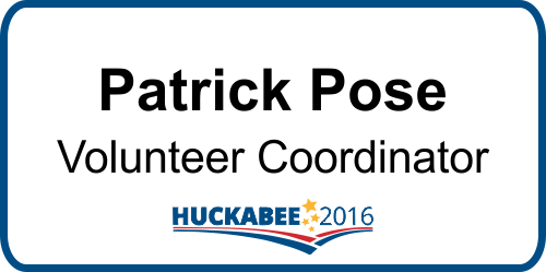 Mike Huckabee Presidential Name Badge