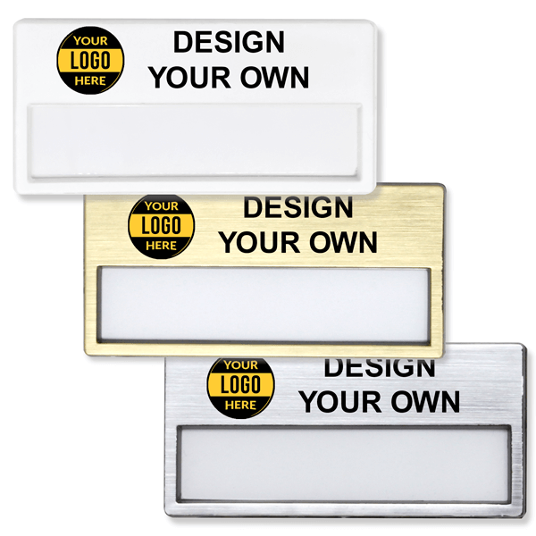 Reusable Printed Window Name Badge