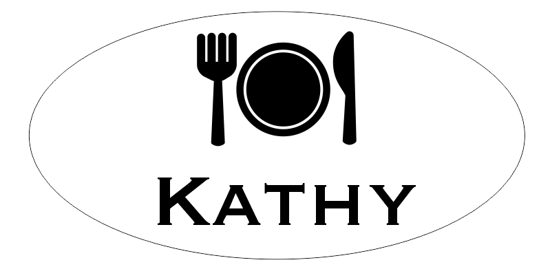 Oval 1 Line Restaurant Name Tag A