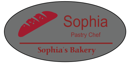 Oval 3 Line Bakery Name Tag C