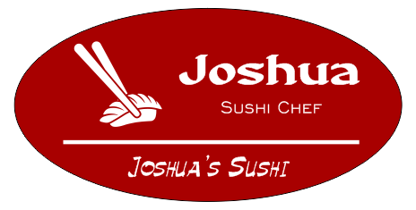 Oval 3 Line Sushi Restaurant Name Tag C