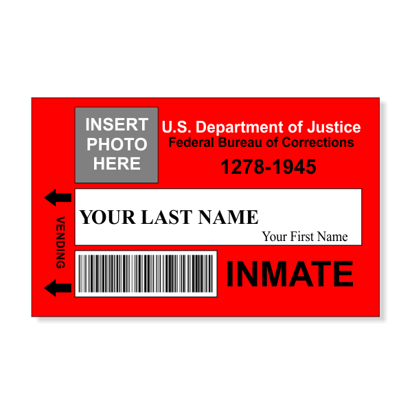 Prison Inmate Costume Photo Id