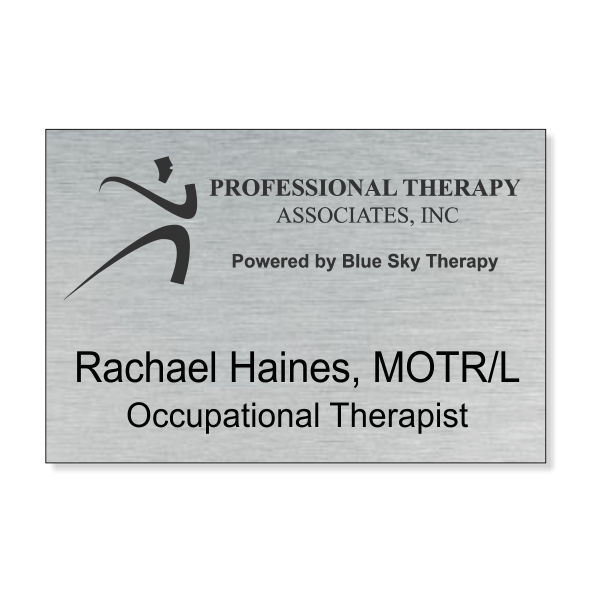Professional Therapy Powered by Blue Sky Name Tag