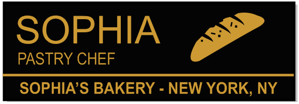 Rectangle 3 Line Bakery Name Tag C