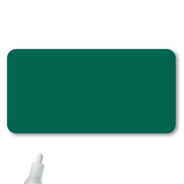 Reusable Chalkboard Green Rectangle Name Tag