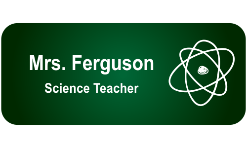 School Biology Rectangle 2 Line Name Tag A