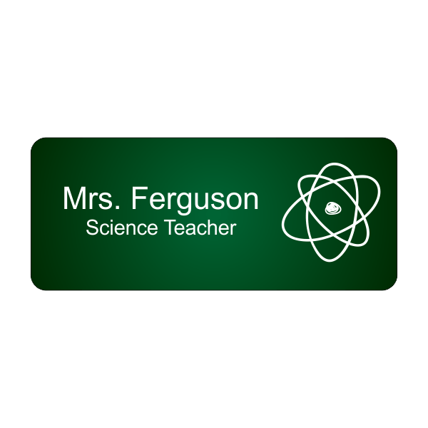 Science Teacher Full Color School Name Tag