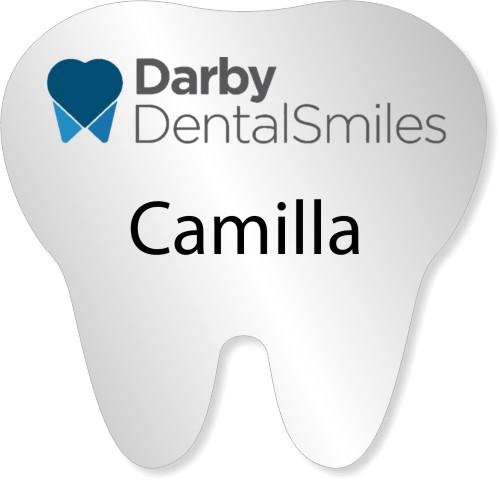 Tooth Shaped Name Tag