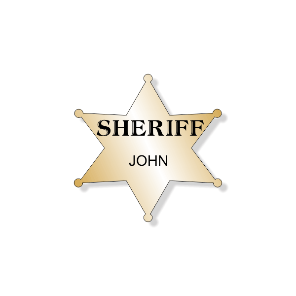Sheriff's Badge Costume Name Tag