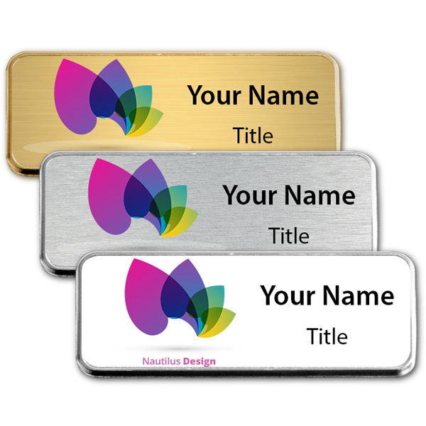 Small Full Color Executive Badges with Rounded Corners