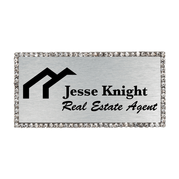 Sparkle Real Estate Engraved Name Tag