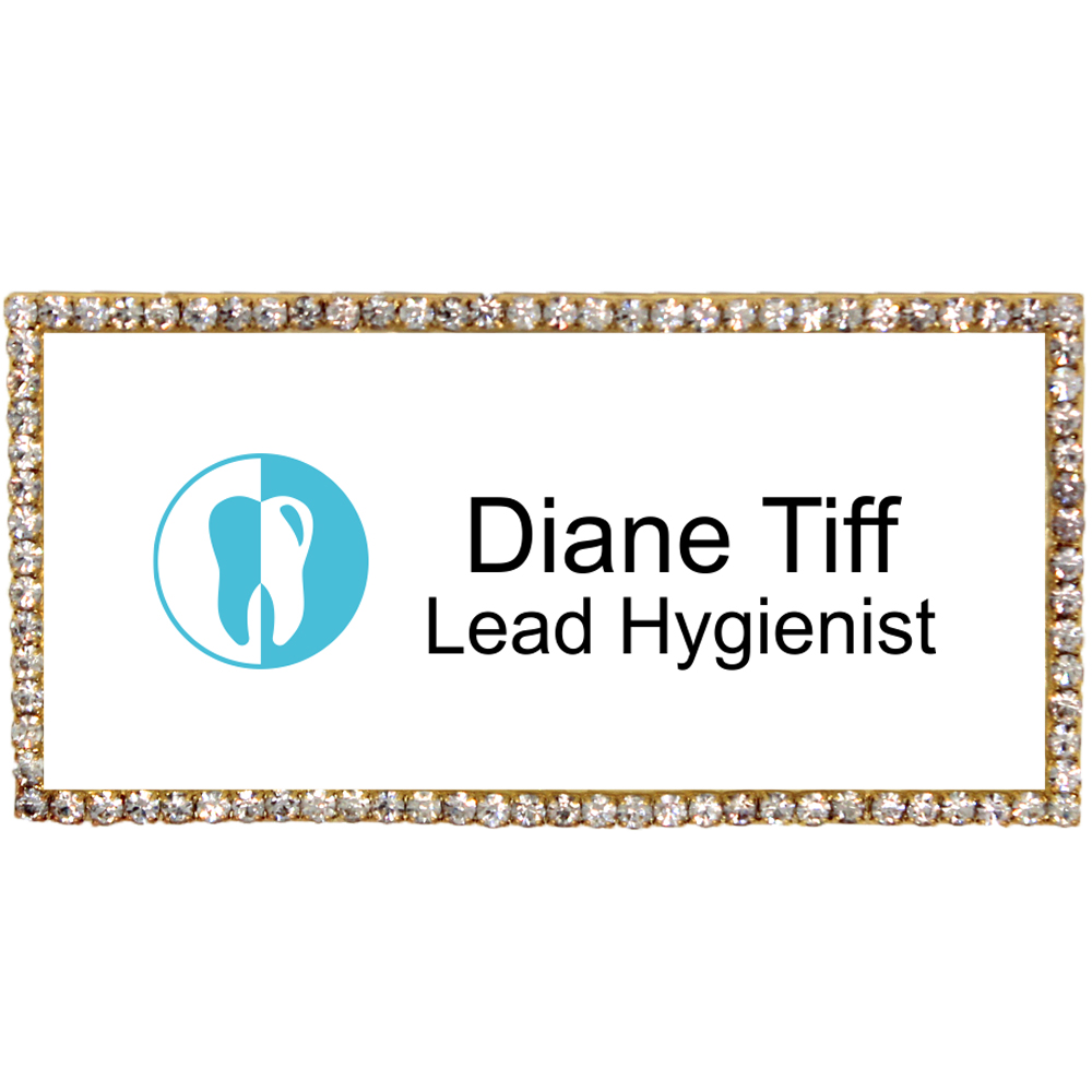 Sparkly Dental Hygienist Name Tag
