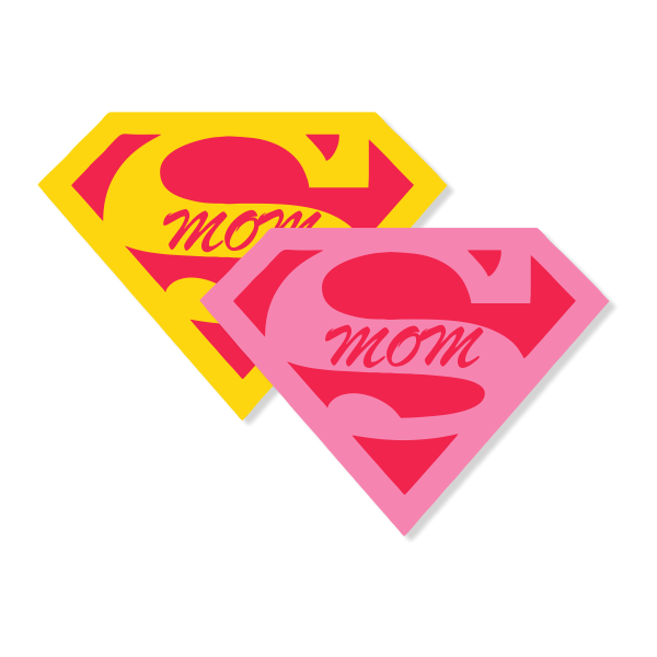 Supermom Name Tag