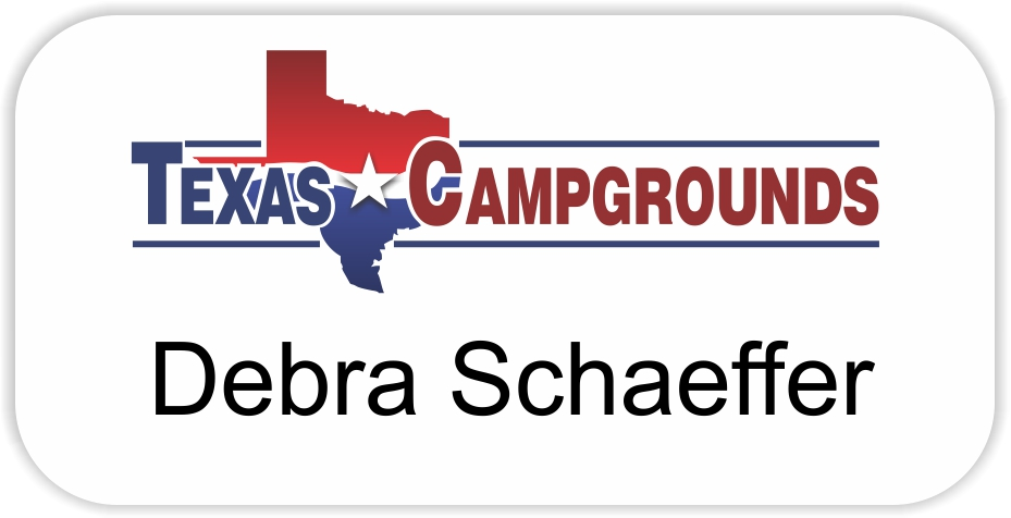 Texas Campgrounds Name Badge