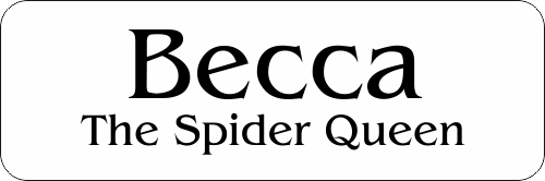 The Spider Queen Halloween Costume Name Tag