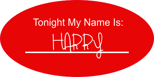 """Tonight My Name Is Halloween"" Name Badge"