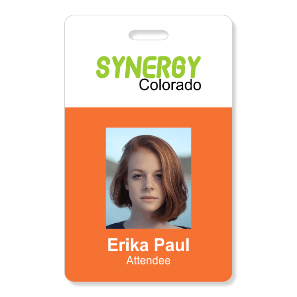 Two Color Conference Photo ID