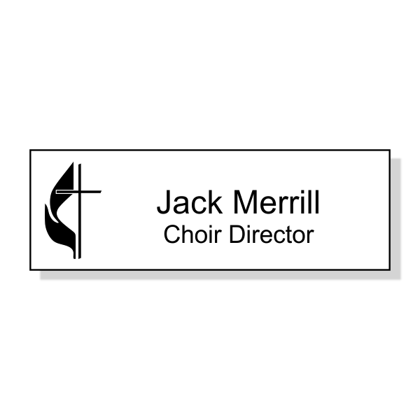 United Methodist Engraved  Name Tag - Rectangle