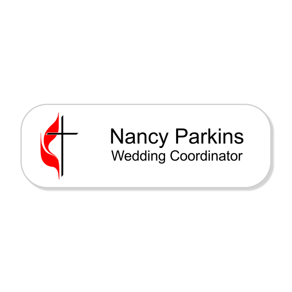 United Methodist Full Color Name Tag - Rectangle