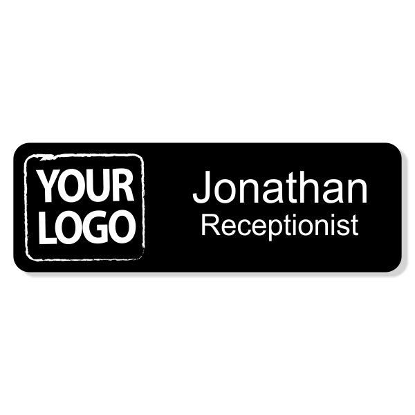 Upload Your Logo Engraved Name Tag