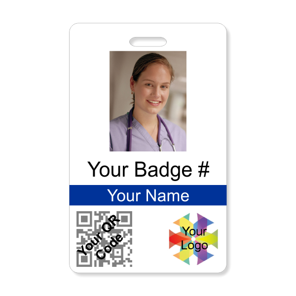 Photo ID Card with QR Code - Vertical