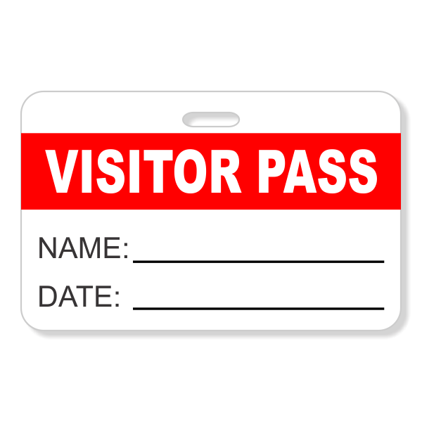 Visitor Pass Reusable Name Badge