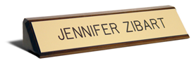 Walnut 10 inch Desk Name Plate