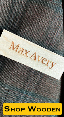 Engraved Wooden Name Tag