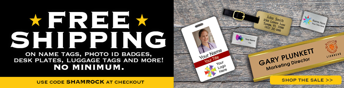 Free Shipping on Name Tags