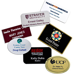 Name Tag Wizard Custom Badges Next Business Day - Target employee name tag template