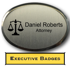 Custom Oval Executive Name Tag
