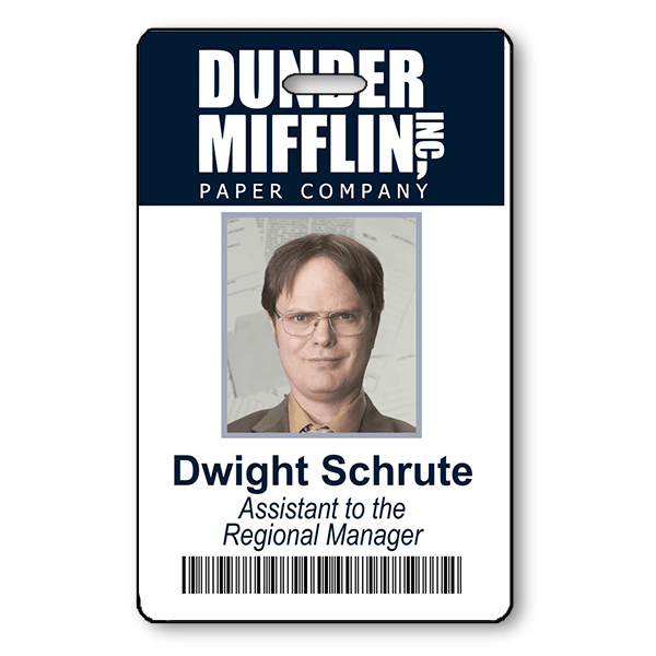 Dwight Schrute from The Office Photo ID Badge