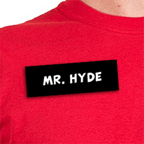 Mr Hyde Name Tag